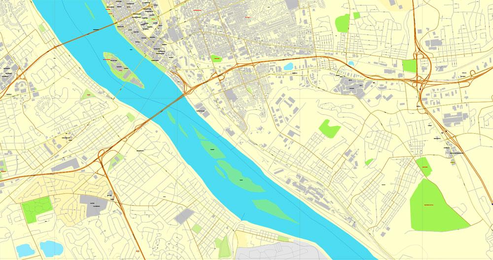 Pdf map Harrisburg Pennsylvania 3 10
