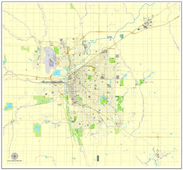 ncoln PDF map, Nebraska, US printable vector street City Plan map, full editable, Adobe PDF, V3.10, full vector, scalable, editable, text format  street names, 12 Mb ZIP.