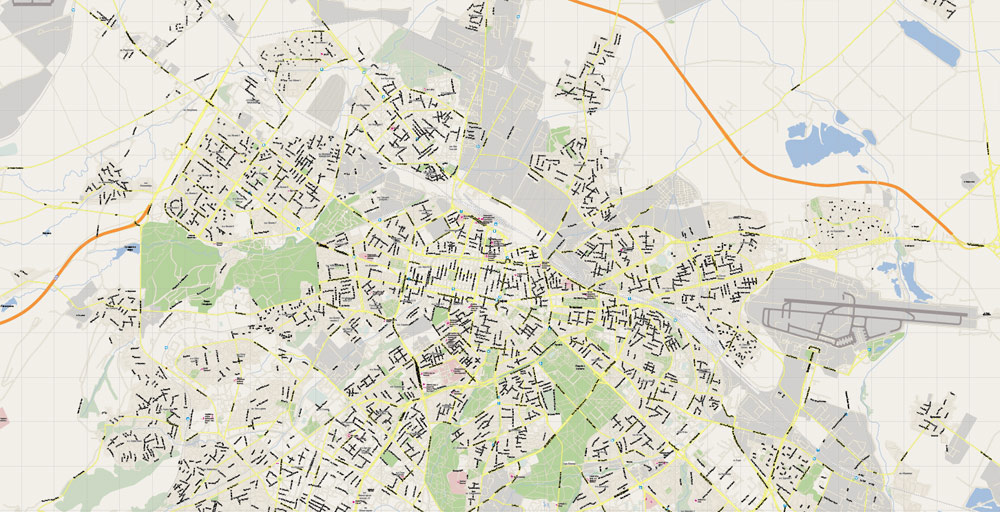 Street map Sofia Bulgaria ai