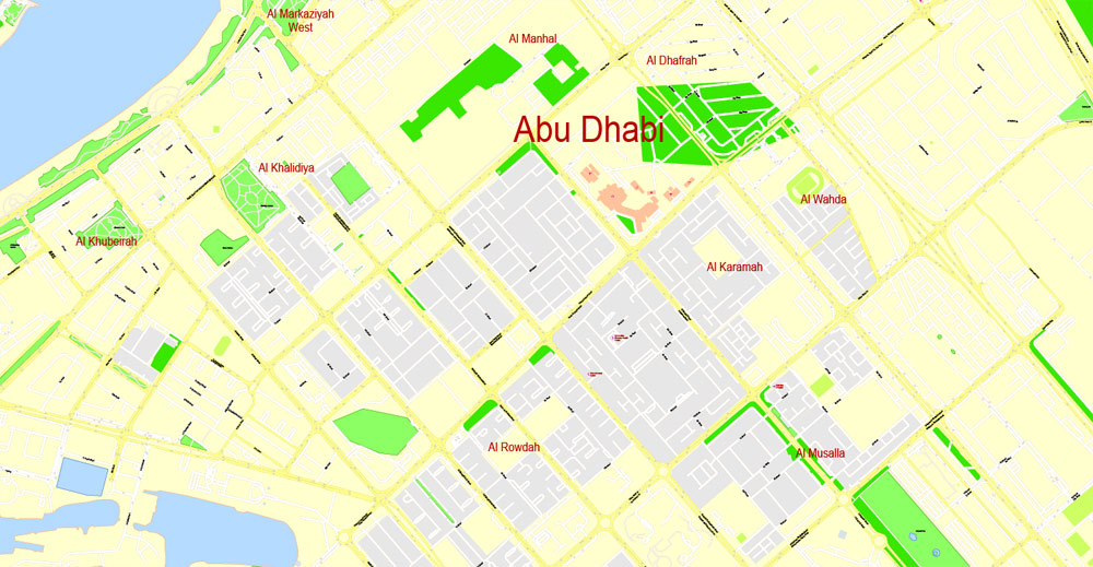 Street map Abu Dhabi United Arab Emirates PDF