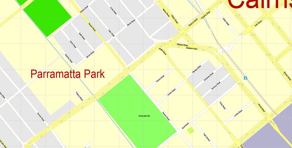 City map Cairns Australia 17