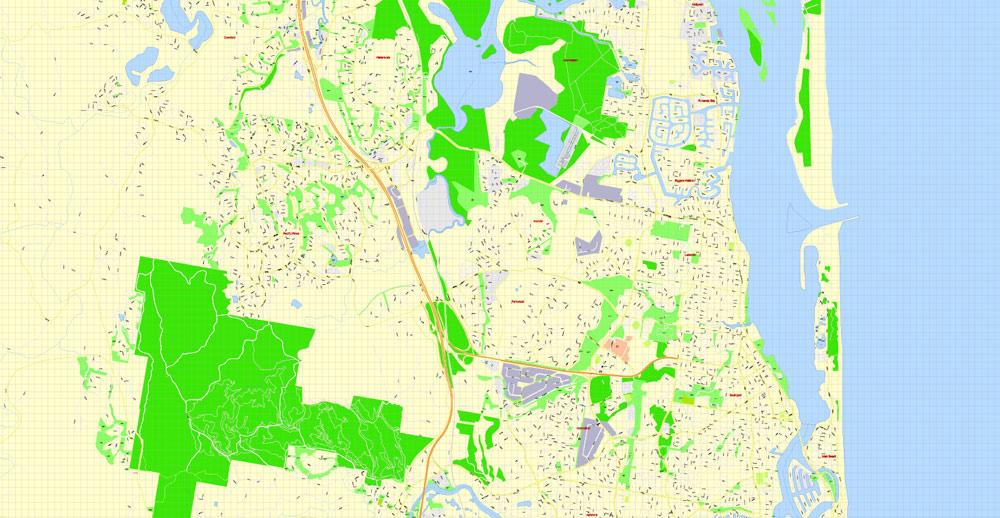 Street map Australia ZIP PDF