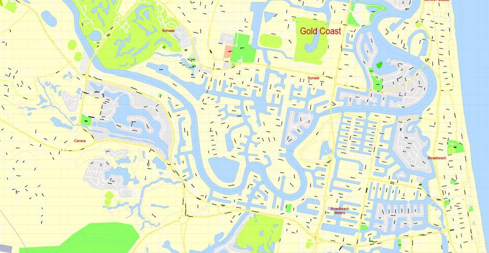 Street map Gold Coast