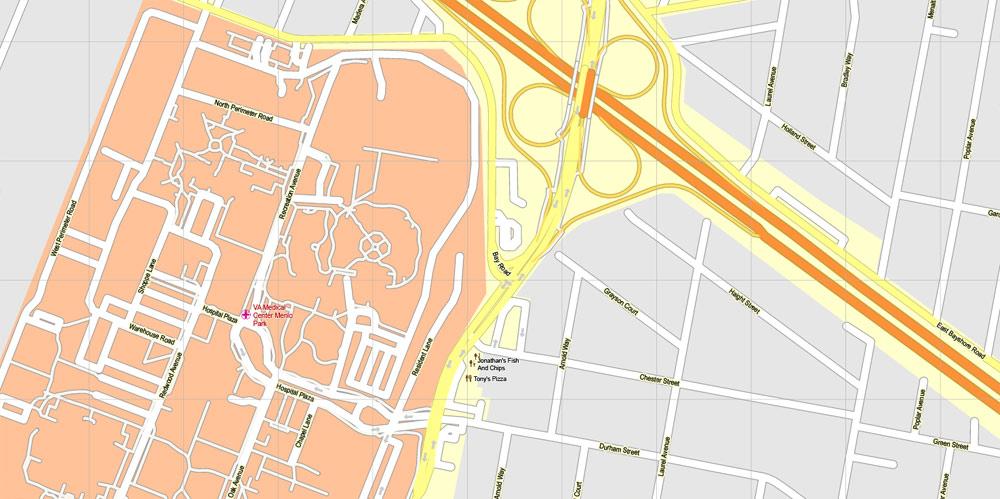 Pdf map Menlo Park California 17