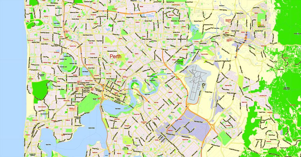 Pdf map Perth Australia PDF