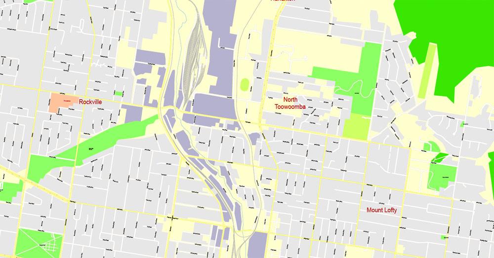 Street map Toowoomba Australia
