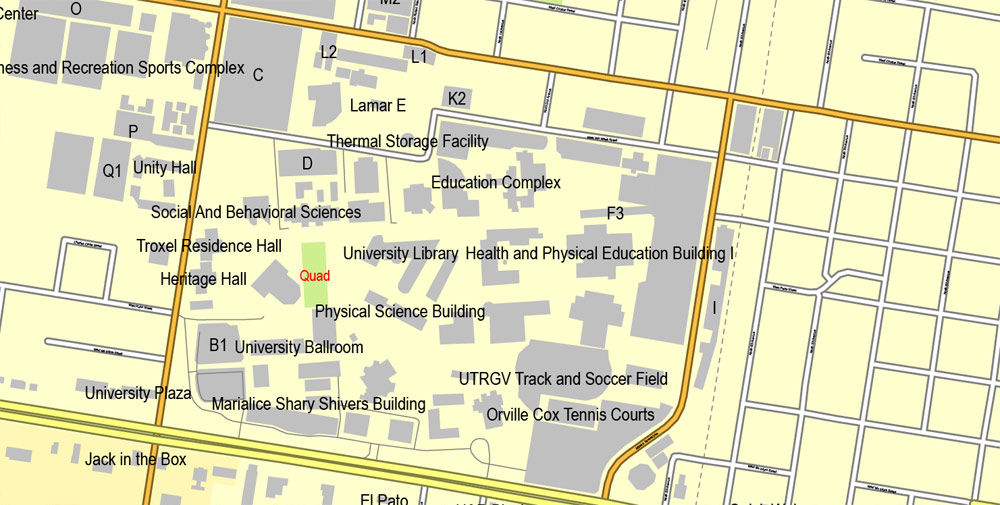 City map Mcallen Texas