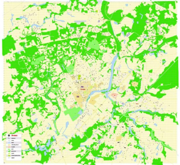 Printable Map Princeton University, Princeton New Jersey, US, exact vector street G-View Level 17 (100 meters scale) map, V.21.12. fully editable, Adobe Illustrator, full vector, scalable, editable text format of street names, 2 Mb ZIP.