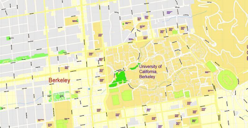 Street map University California Berkeley PDF
