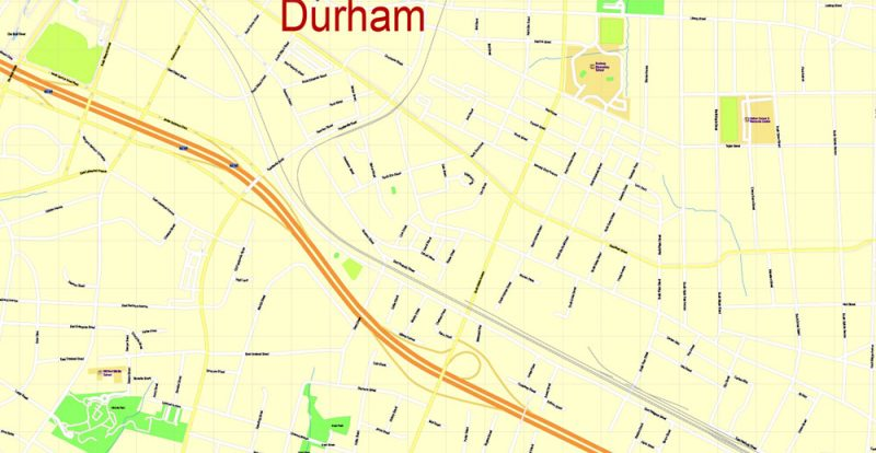 City map Duke University Durham North Carolina SVG