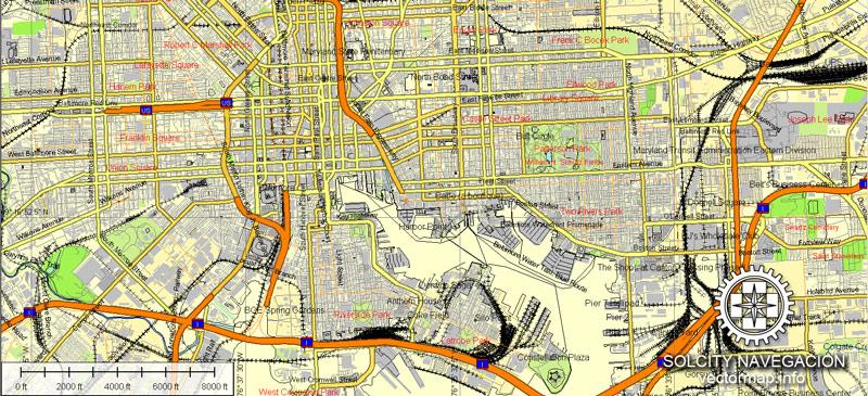 Street map Washington Baltimore