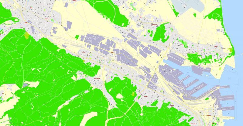 City map Gdansk Gdynia Sopot Poland PDF