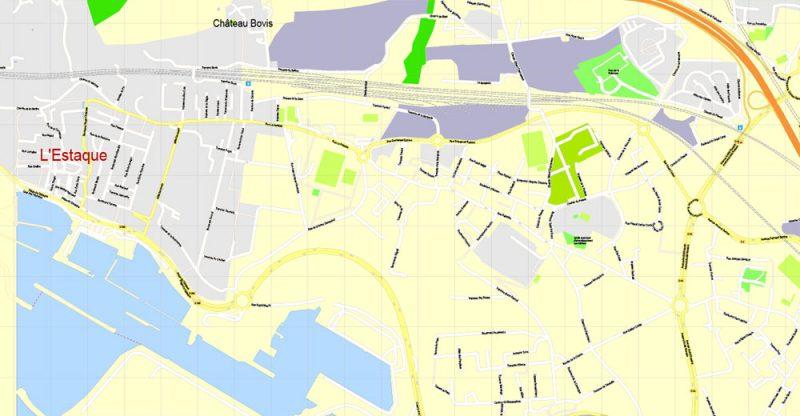 Street map Montpellier France pdf