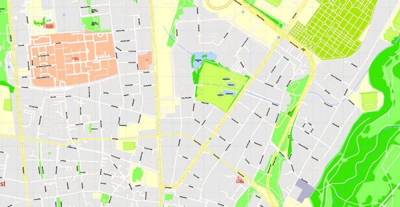Street map Munich Munchen Germany pdf
