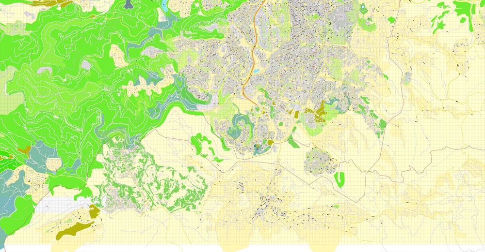 Pdf map Jerusalem Israel ENG AI