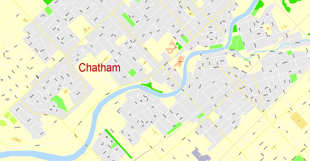 Street map Wallaceburg Chatham Ontario