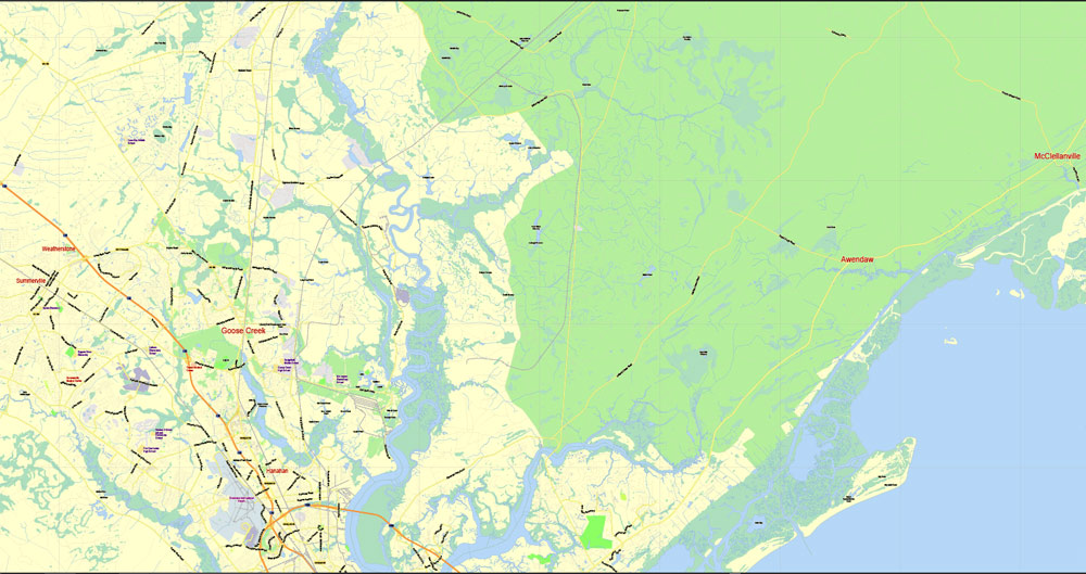 City map Charleston South Carolina 3 10 PDF