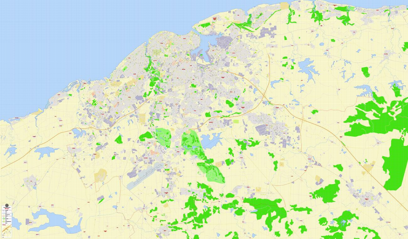Street map Havana Cuba PDF
