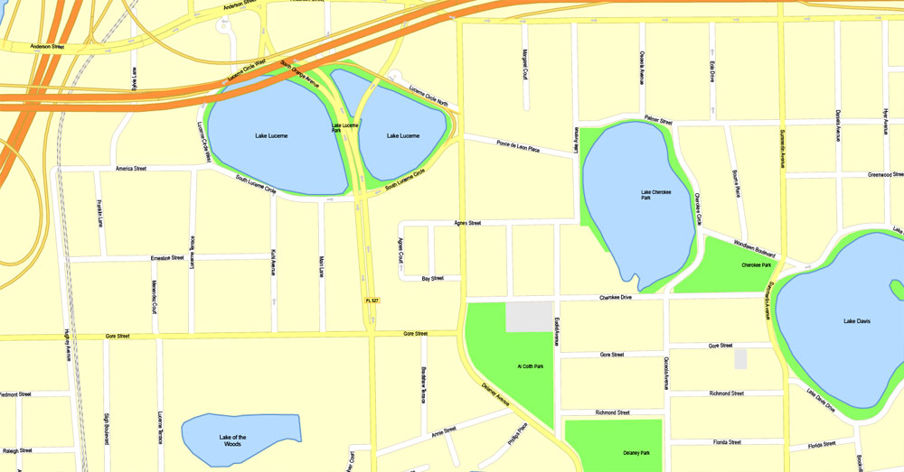 Street map Orlando Florida PDF