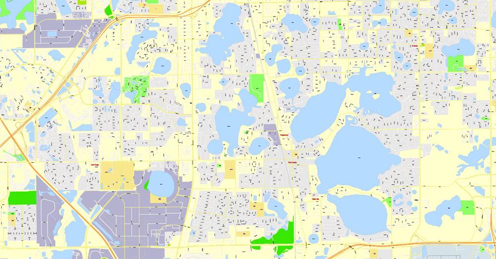 Street map Orlando Florida