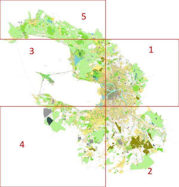 Saint-Petersburg Map Vector Russia City Plan printable editable Adobe Illustrator Street Map