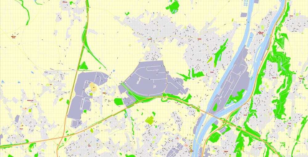 Street map Liege Belgium AI 13