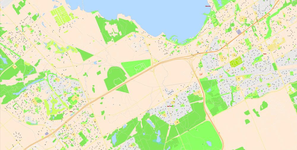 Street map Ottawa City Canada PDF