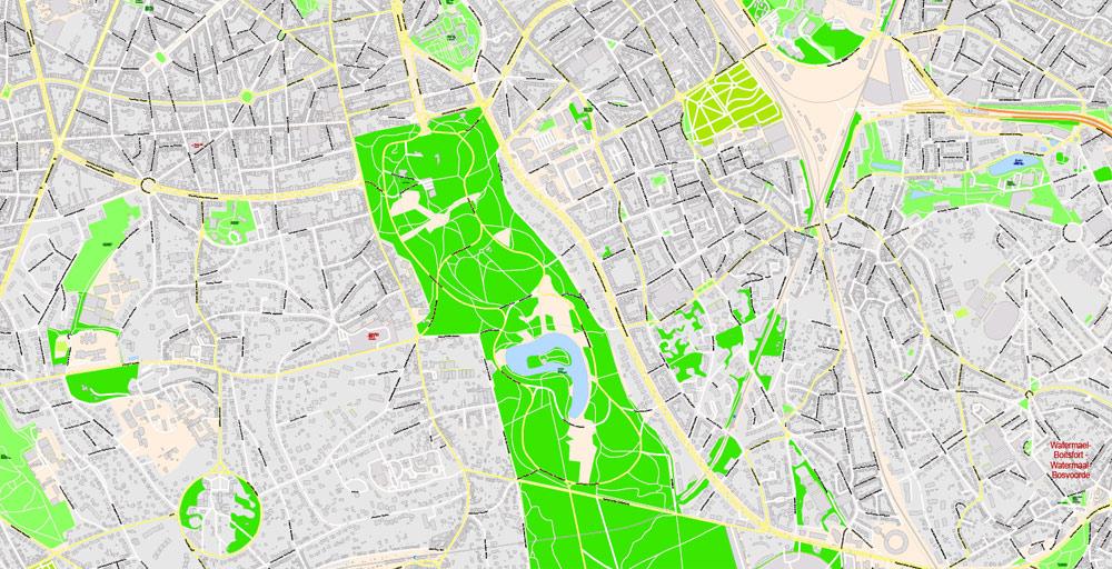 Street map Bruxelles Brussels Belgium