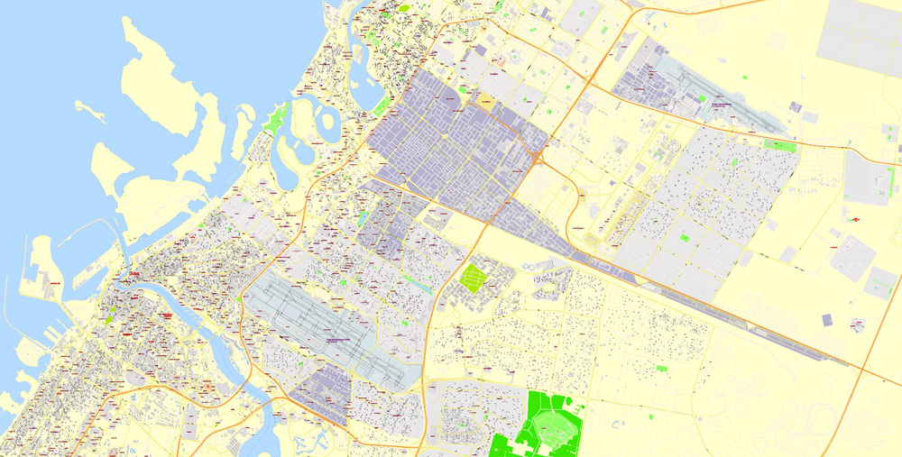 City map Dubai UAE PDF