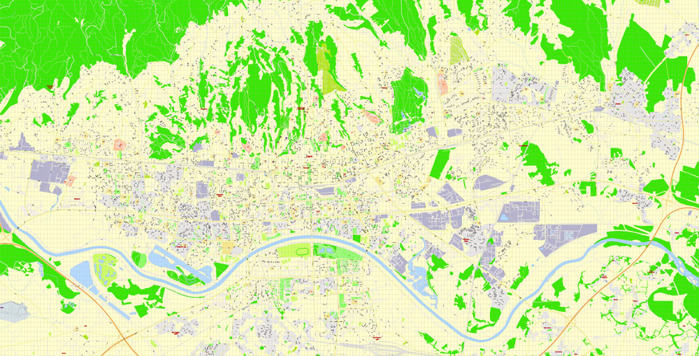 Street map Zagreb Croatia PDF