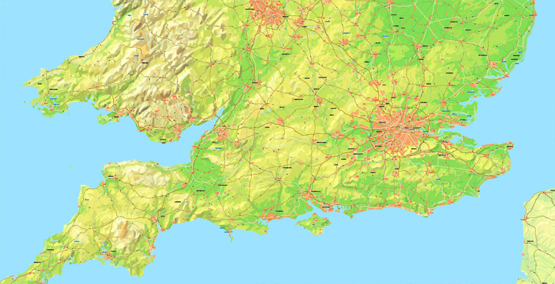 Street map Pyrenees Relief Roads PDF