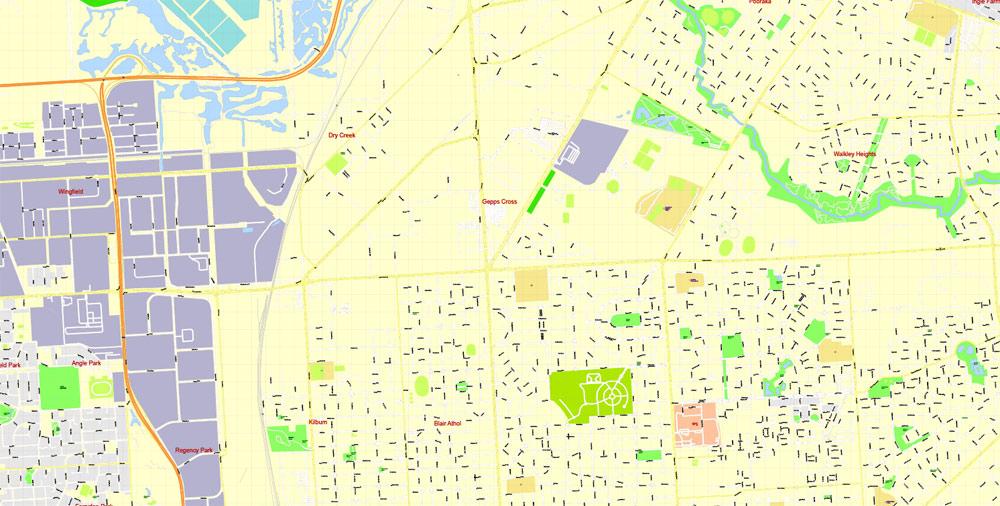 Street map Adelaide Australia ZIP