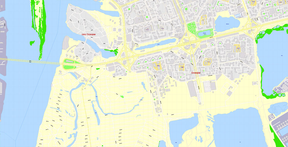 Pdf map Moscow admin areas subway