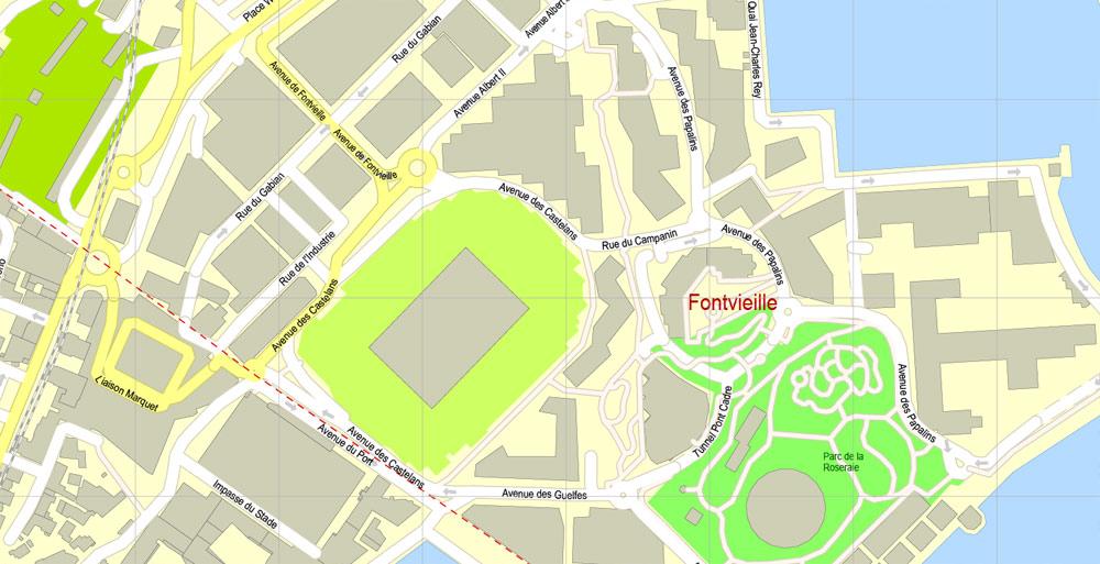 Pdf map Monaco