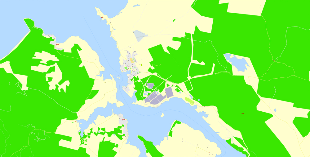 City map Tasmania Full Roads