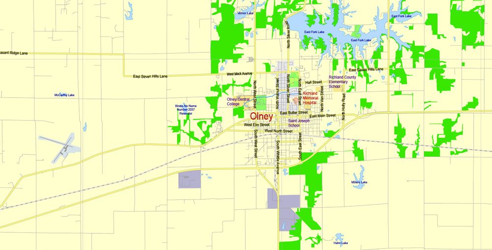 Street map Evansville Indiana