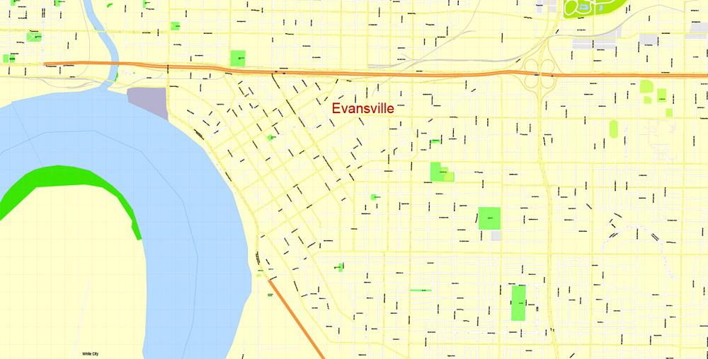Pdf map Evansville Indiana 3 10 PDF