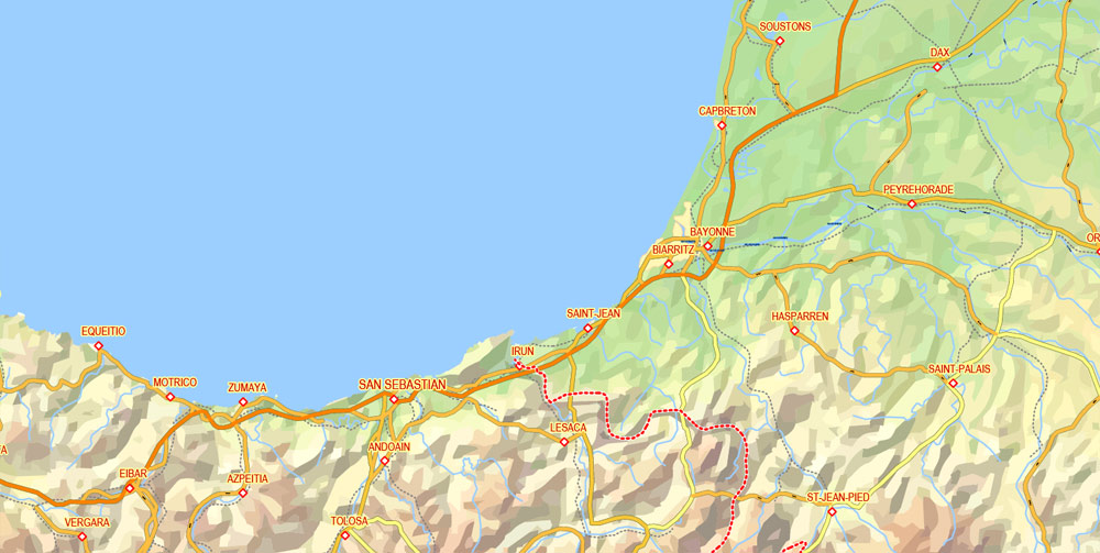 City map Slovakia Relief Roads PDF