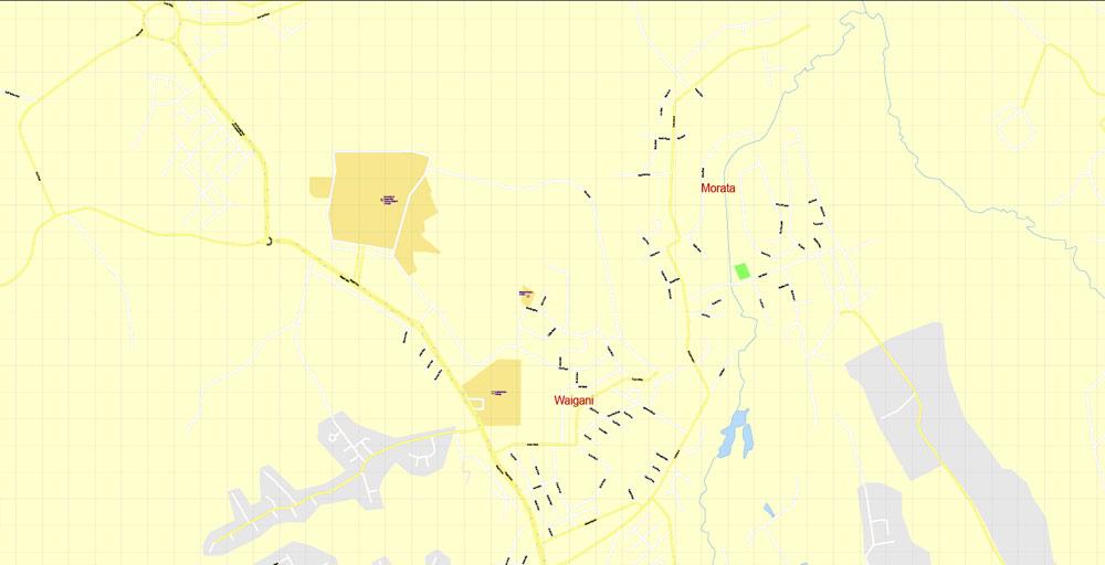 Street map Port Moresby Papua New Guinea