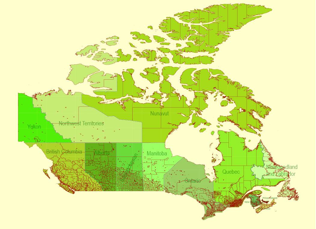 Street map Canada Admin Districts PDF