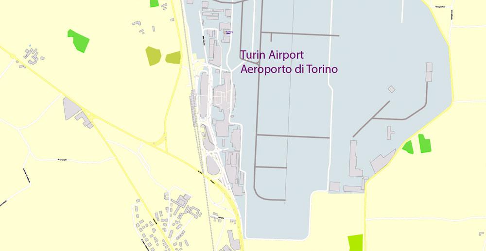 Street map Turin Torino Italy PDF