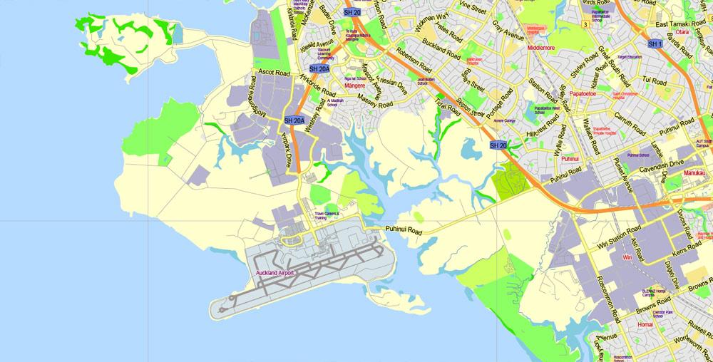 Pdf map Auckland New Zealand 17