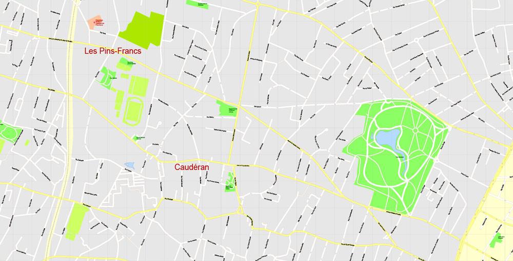 City plan Bordeaux PDF
