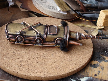 Fremen Atreides (Dune) #steampunk #phone #design #brass, #chasing, #soldering and straight arms