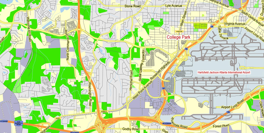 Street map Atlanta Georgia PDF