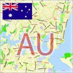 Vector Maps Australia exact City Plans Street Maps editable Illustrator