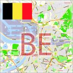 Belgium City Maps Vector Urban Plans in the Adobe Illustrator PDF