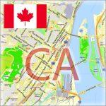 Canada City Maps Vector Urban Plans in the Adobe Illustrator, PDF