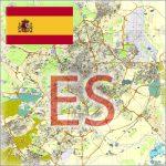 Spain City Plans Vector Street Maps in the Adobe Illustrator PDF