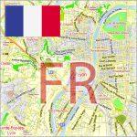 France City Maps Vector Urban Plans in the Adobe Illustrator, PDF